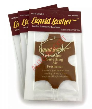 "Gliptone ""Liquid Leather"" Scented Airfresheners x 3 - Long Lasting"